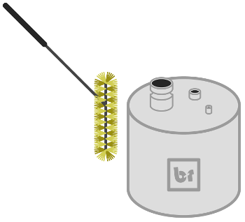 Boiler with Brush