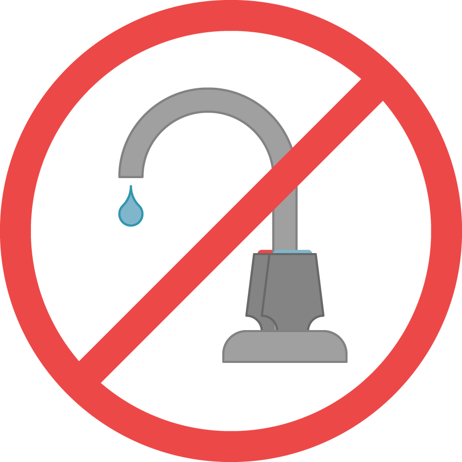 No Water Faucet Sign